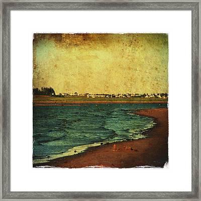 Seaside Beach Photograph Coastal Decor Framed Print by Laura Carter