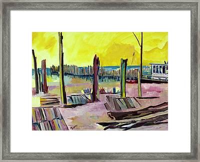 Seaside Framed Print by Betty Pieper