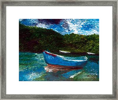 Seaside Blue Boy II Framed Print