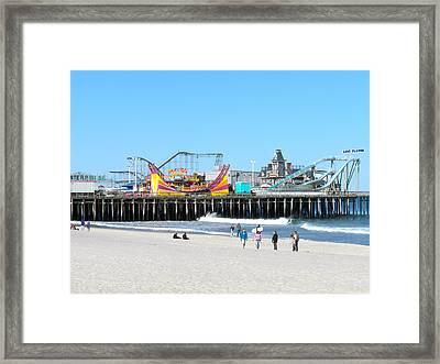 Seaside Casino Pier Framed Print by Neal Appel