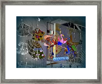 Seaside Chimes Framed Print by Sue Rosen