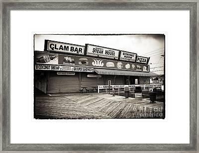 Seaside Clam Bar Framed Print by John Rizzuto