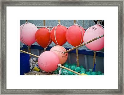 Seaside Colors Framed Print by Frank Tschakert