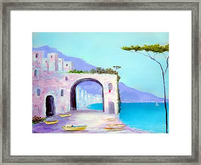 Seaside Colors Of Southern Italy Framed Print