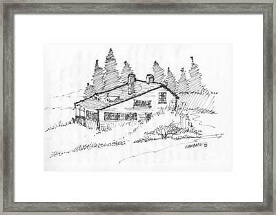 Seaside Cottage Monhegan Island 1993 Framed Print