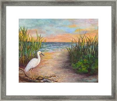 Seaside Dining Framed Print by Annie St Martin