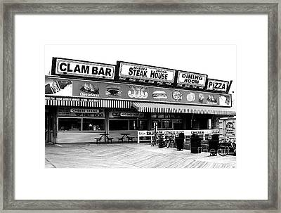 Seaside Dining Framed Print by John Rizzuto