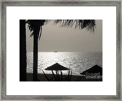 Seaside Dinner For Two Framed Print by Patti Whitten