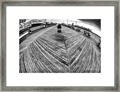 Seaside Distorted Framed Print by John Rizzuto