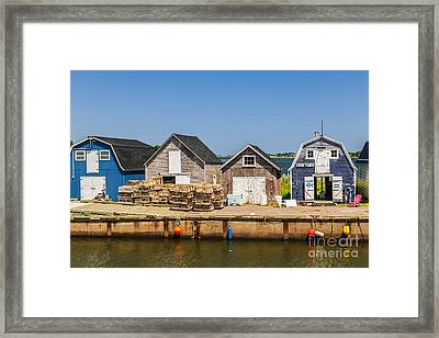 Seaside Dock Of Prince Edward Island Framed Print by Elena Elisseeva