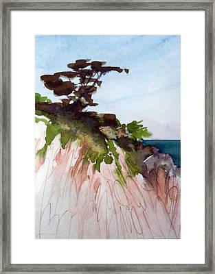 Framed Print featuring the painting Seaside by Ed  Heaton