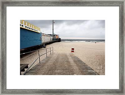 Seaside Heights Beach Framed Print by John Rizzuto