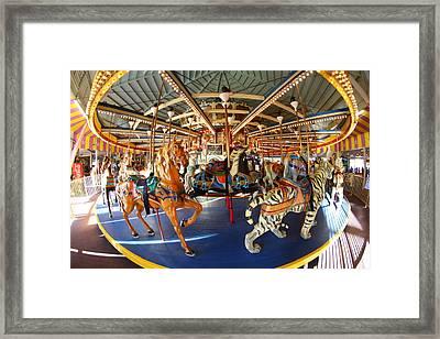 Seaside Heights Boardwalk Carousel Framed Print