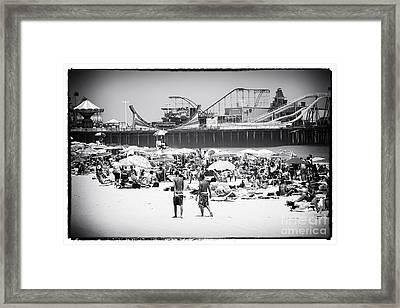 Seaside Heights Framed Print by John Rizzuto
