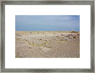 Seaside Heights...beyond The Dunes. After Hurricane Sandy Framed Print
