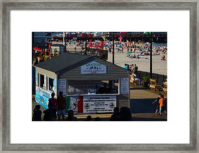 Seaside Italian American Club Framed Print