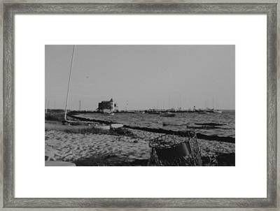 Seaside Park Nj Yacht Club Bw Framed Print by Joann Renner