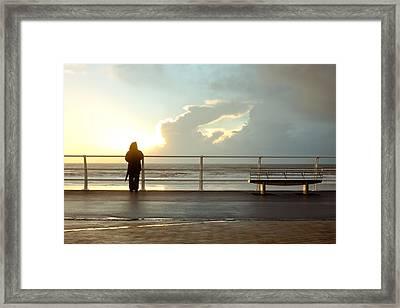 Seaside Person Framed Print
