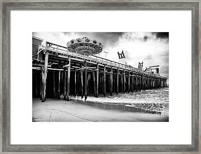 Seaside Pier Framed Print by John Rizzuto