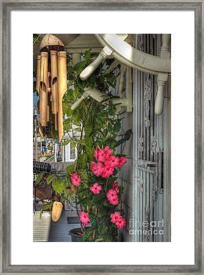Seaside Porch Framed Print by Joann Vitali