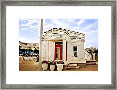 Seaside Post Office Framed Print