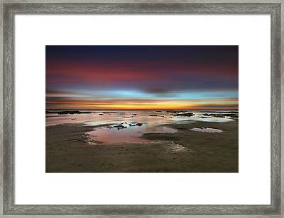 Seaside Reef Sunset 14 Framed Print by Larry Marshall