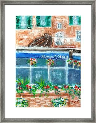 Seaside Restaurant Framed Print