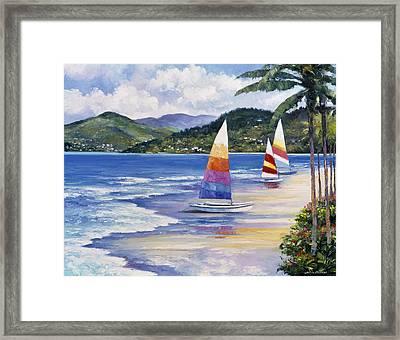 Seaside Sails Framed Print