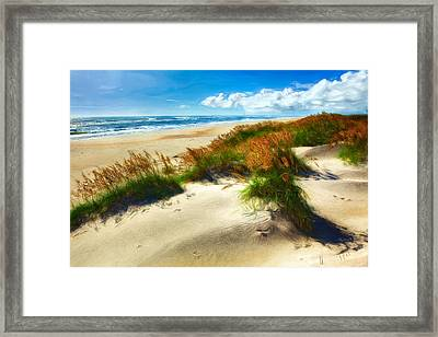 Seaside Serenity II - Outer Banks Framed Print by Dan Carmichael