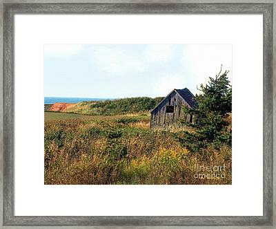 Seaside Shed - September Framed Print by RC DeWinter