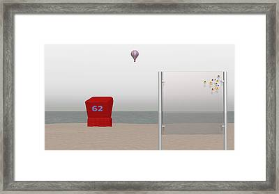 Seaside Stillness Framed Print by Andreas Thust