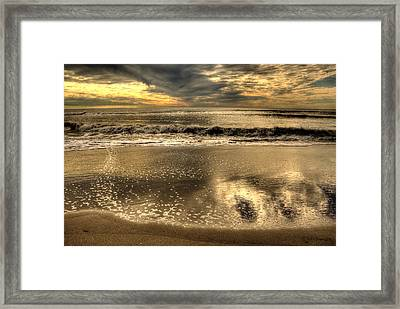 Framed Print featuring the photograph Seaside Sunset by Julis Simo