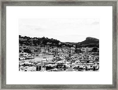 Seaside Town In France Framed Print