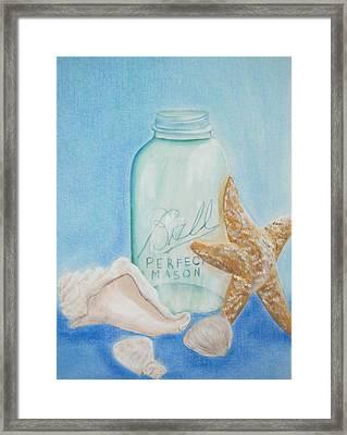 Seaside Treasures Framed Print by Natasha Nash