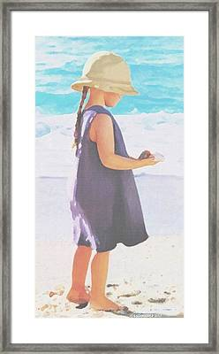 Seaside Treasures Framed Print by Sophia Schmierer