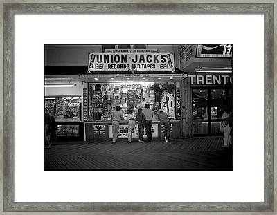 Seaside Union Jacks Framed Print by David Riccardi