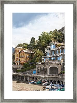 Seaside Villa Framed Print by Patricia Hofmeester
