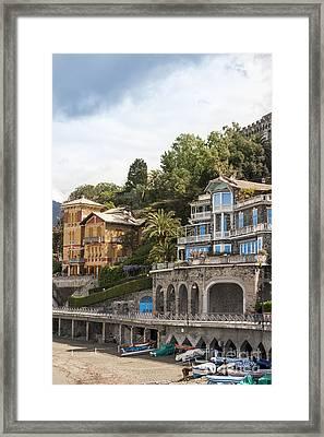Seaside Villa Framed Print