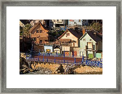 Seaside Village In Malta Framed Print