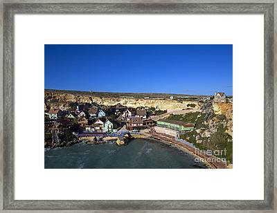 Seaside Village, Malta Framed Print