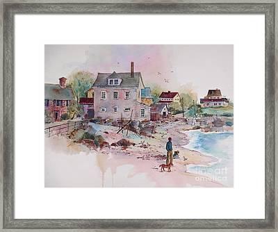 Seaside Village Framed Print by Sherri Crabtree