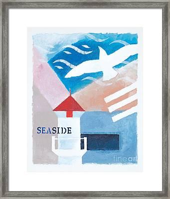 Seaside Whiteborder Framed Print by Lutz Baar
