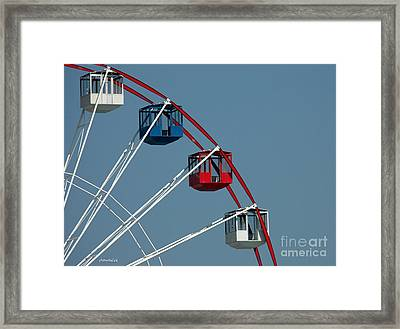 Seaside's Ferris Wheel Framed Print