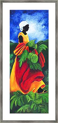 Season Breadfruit Framed Print by Patricia Brintle