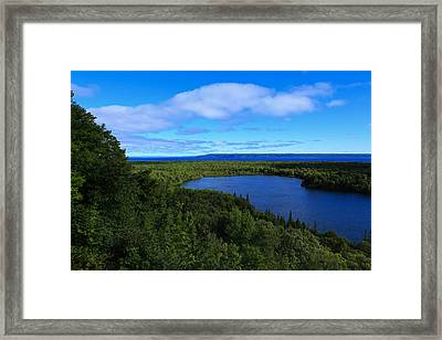 Season Of Blue And Green Framed Print by Rachel Cohen