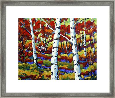 Season Of Fire By Prankearts Framed Print