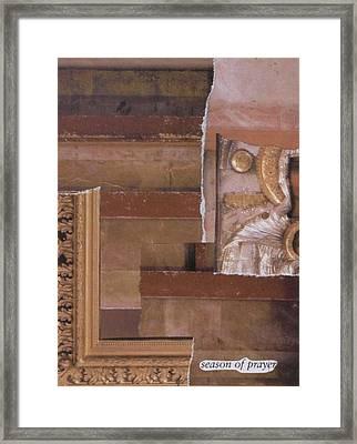 Season Of Prayer Framed Print by Matthew Hoffman