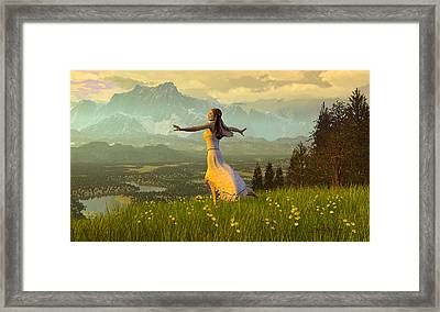 Season Of The Dance Framed Print by Dieter Carlton