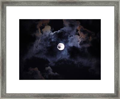 Seasonal Blue Moon IIi Framed Print