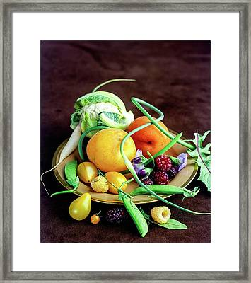 Seasonal Fruit And Vegetables Framed Print